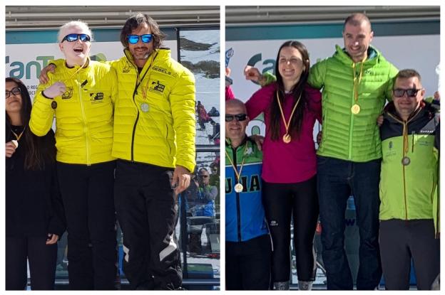 Los cántabros Celia Gramse y Manuel Sánchez ganan la I Copa FEDC de Esquí Alpino
