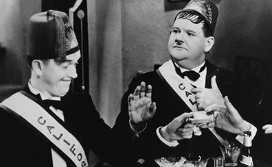 Stan Laurel y Oliver Hardy, toda una pareja de cómicos