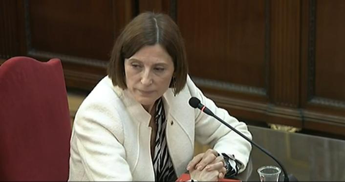 Forcadell: «No dirigí ninguna estrategia; me limité a ejercer mi cargo de presidenta del Parlament»