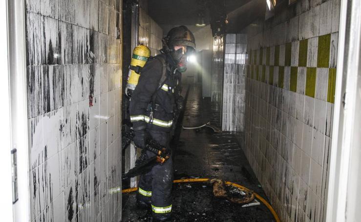 Otro incendio en la sauna de La Lechera en Torrelavega