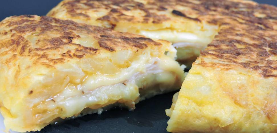 Tortilla de patatas con queso de nata