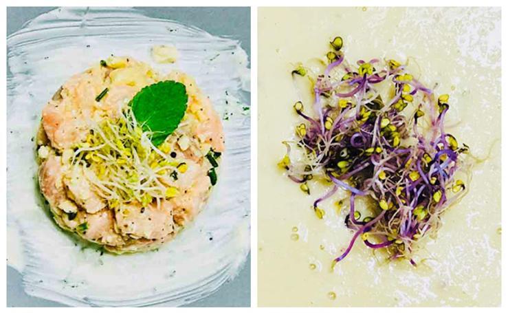 Cocina en casa un menú sano con garbanzos y salmón como ingredientes principales