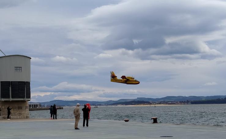 Problemas para los helicópteros y los hidroaviones por el fuerte viento