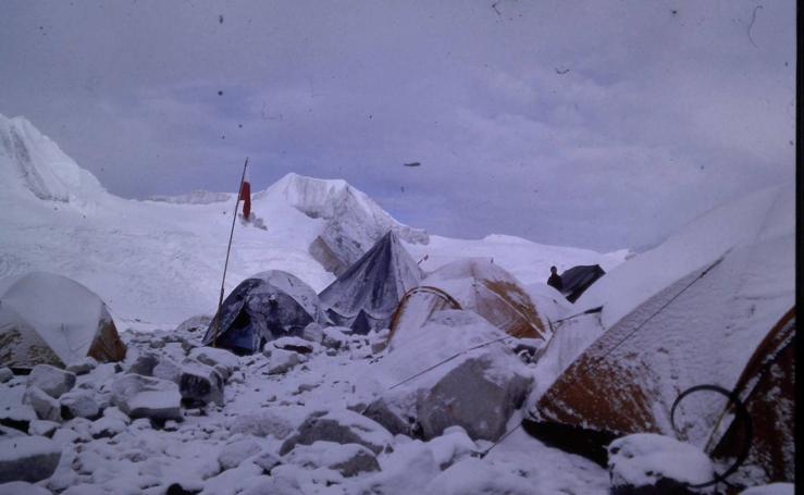 Haciendo cumbre en el Cho-Oyu