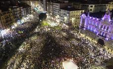 Miles de cántabras marchan por la igualdad en Santander