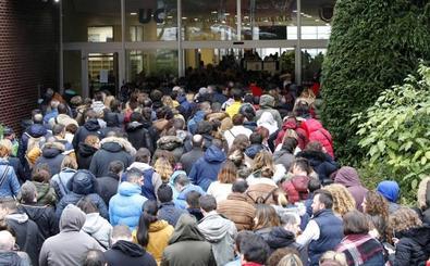 Megaexamen de celadores en el Campus de Santander