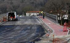 El puente de Golbardo a falta de dos semanas