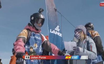 Julián Puras sigue creciendo y logra el sexto puesto en el Mundial Junior de freeride