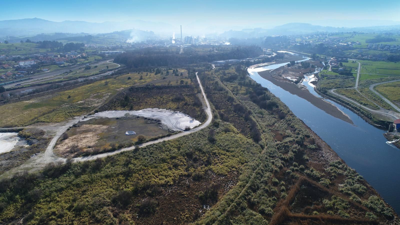 Polanco se moviliza contra la construcción de Vuelta Ostrera en la isla de Solvay