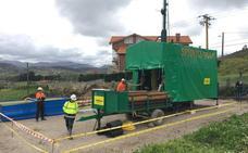 Primeros sondeos de la mina de zinc del Besaya