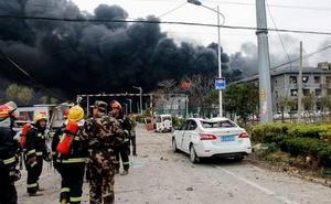 Al menos seis muertos y 30 heridos en una explosión en una fábrica de pesticidas en China