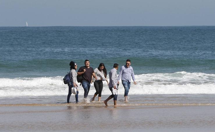 Tiempo de playa en el primer domingo de la primavera
