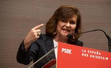 Calvo promete que el PSOE no será «cobarde» con Cataluña y buscará el «equilibrio»