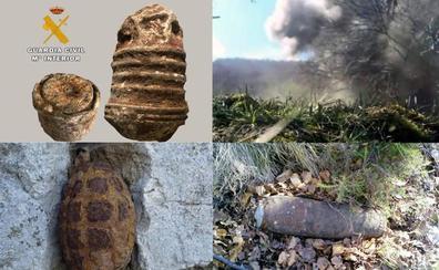 La Guardia Civil destruye tres granadas de mano y un proyectil de artillería