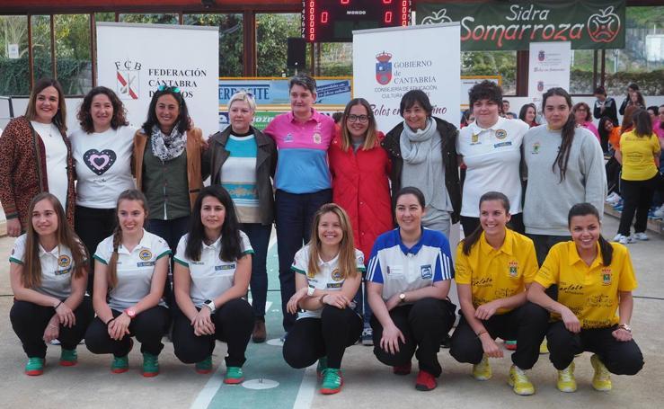 Presentación de la Liga Femenina de bolos, con la presencia de María José Rienda