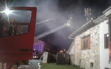 Se quema parte de una casa en la localidad campurriana de Orzales