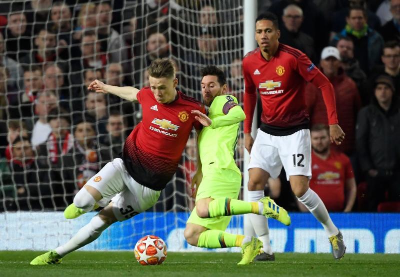Las mejores imágenes del United-Barcelona