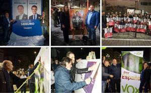Entre carteles, mensajes y peticiones de voto