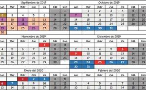 Publicado el calendario escolar para el curso 2019-2020