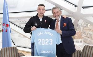 Iago Aspas amplía su contrato con el Celta hasta 2023