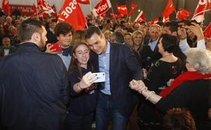 Sánchez pide tres diputados cántabros para «frenar a la derecha de la involución»