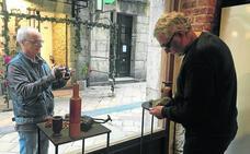 'Arte peatonal', reflejos de escaparate