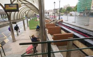Las obras en la Plaza de las Estaciones estarán acabadas a mediados de junio