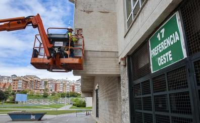 Arrancan las obras de mejora de fachada, torretas y cubierta de los Campos de Sport