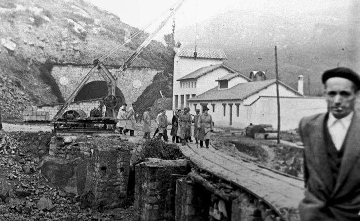 Fotos antiguas del túnel de la Engaña