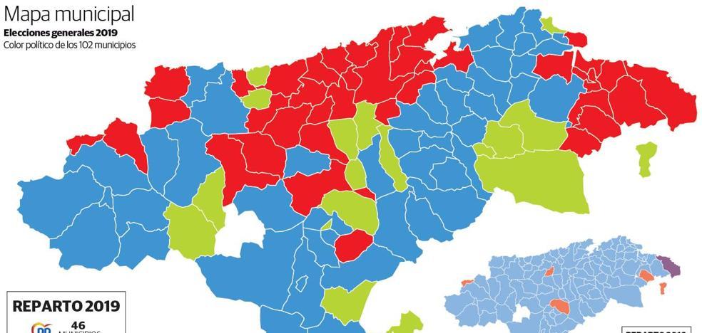 El mapa municipal se vuelve tricolor