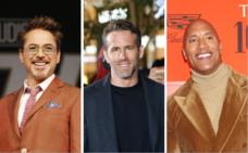 Robert Downey Junior, Ryan Reynolds y Dwayne Johnson: los sueldos más altos del cine en 2019