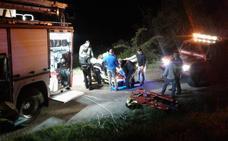 Herido grave tras precipitarse por un profundo talud con su tractor en Vega de Liébana