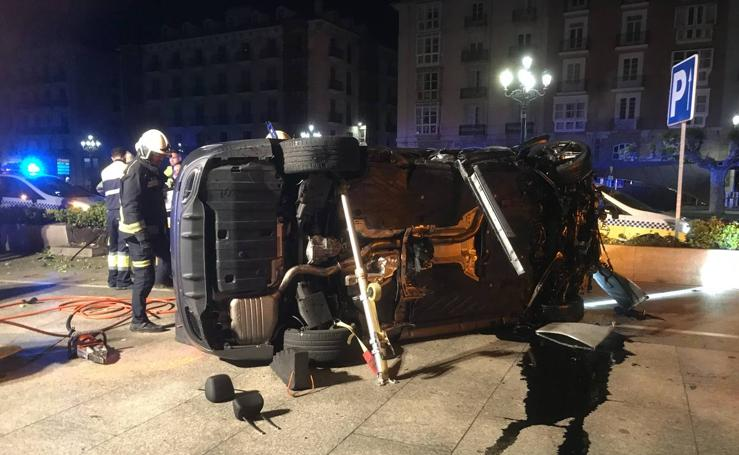 Accidente junto al Palacete del Embarcadero