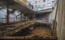 Una excavación «lenta y compleja» para proteger el edificio anexo al solar de La Paz