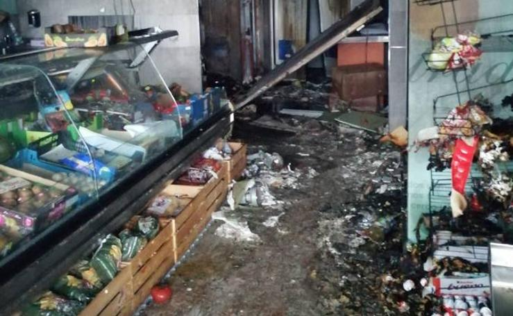 Se incendia una carnicería en Torrelavega