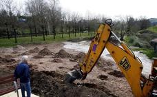 La obra del parque de Miravalles se reanudará con nuevos rellenos de tierra