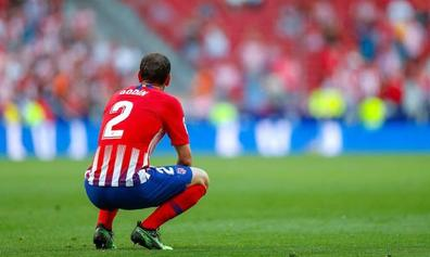 El Atlético le regala a Godín el subcampeonato