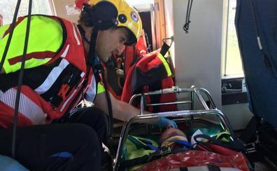 Rescatado un senderista con traumatismo craneoencefálico en los Collados del Asón
