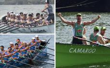 Pedreña, Camargo y Santoña comenzarán a bogar en la Liga ARC1 el 15 de junio en aguas de Pasajes