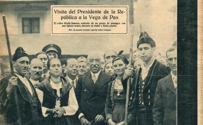 La visita del presidente a Vega de Pas