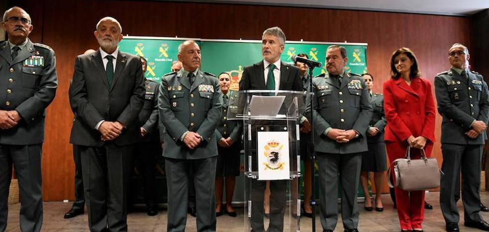 Marlaska y la Guardia Civil garantizan que no «cejarán » contra ETA