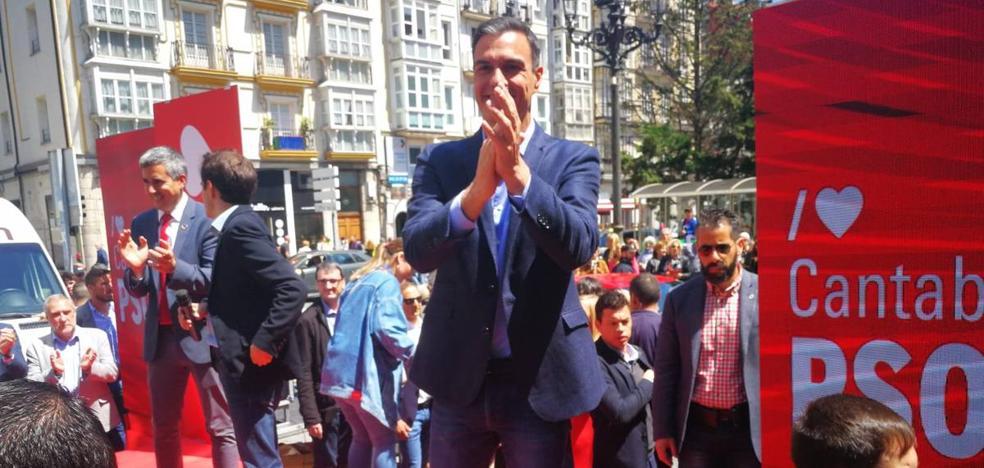 Pedro Sánchez pide en Santander «no dejar a medias la faena» el 26M y que gane el voto al PSOE