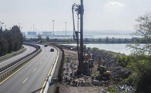 La maquinaria ya llegó a la obra del nuevo acceso al puerto de Santander