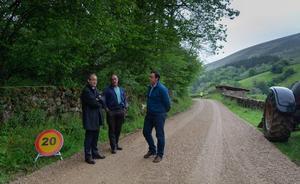 Reparado el camino rural que comunica Barcenillas y Lamiña en el municipio de Ruente