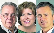 Tres candidatos a obtener el bastón de mando en Medio Cudeyo