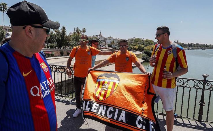 Final Copa del Rey, ambiente festivo