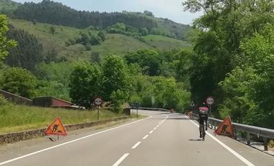 Comienza la obra de la senda peatonal en la carretera del Nansa