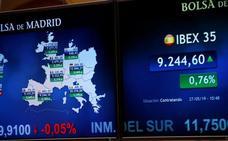 Las bolsas suben tras las elecciones europeas y el Ibex recupera los 9.200 puntos