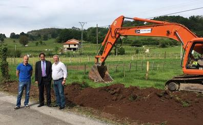 Comienza la reparación de la carretera entre Iguña y el Pas