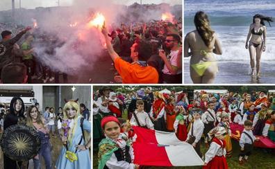 Fin de semana soleado y animado por el fútbol, los videojuegos y comics y las tradiciones regionales